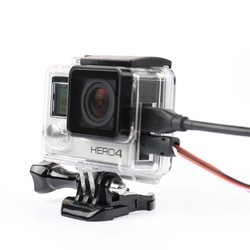 MyXL Skelet beschermhoes Behuizing Side-opening & Backdoor met gat met lens glas voor GoPro Hero 3 + 4 accessoires
