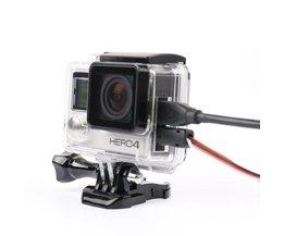 Skelet beschermhoes Behuizing Side-opening & Backdoor met gat met lens glas voor GoPro Hero 3 + 4 accessoires