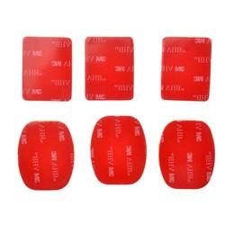 MyXL 6 stks/partij gopro 3 m vhb adhesive sticky 3 concave 3 platte sticker voor gopro hero 2 3 + 4 sj4000 xiaomi yi helm mount accessoires