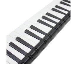 Zwart Kleur Student Instructeur 37 Sleutel Melodica Piano Stijl Harmonica + Oxford Tas Liefhebbers Speelgoed Muziekinstrument spelen melodica