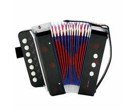 Mini 7-Key Accordeon Duurzaam 2 Bas Accordeon Educatief Muziekinstrument Speelgoed voor Amateur Beginner BestZwart