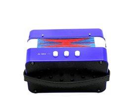 7-Key 2 Bas Accordeon Mini Kleine Accordeon Educatief Muziekinstrument Rhythm Band voor Kids Blauw