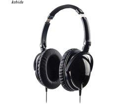 Actieve Noise Cancelling Hoofdtelefoon DJ Studio Over ear Met Microfoon Super Bass Hoofdband Reductie Oortelefoon