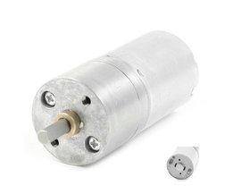 300 RPM DC 12 V 0.03A Hoge Koppel Versnellingsbak Elektrische Snelheid Verminderen Motor Zilver