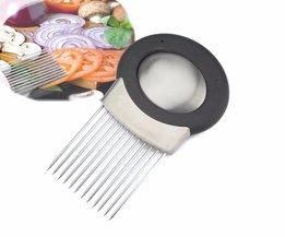 Alle-In-een Ui Houder, ui Slicer, geur Remover & Chopper, Groenten & fruit Snijden voor keuken gadgets <br />  Leeseph