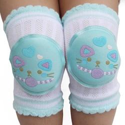MyXL 1 Paar Baby Kneepad Katoen zacht En Comfortabel Kinderen Kniebeschermers Pop Leren Lopen Beste Bescherming Leuke Cartoon Glimlach kat <br />  MyXL