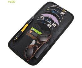 Auto CD DVD Zonneklep Card Case Opslag Houder Clipper Bag Pocket Voor Audi A4 A6 C5 C6 A3 A5 A7 Q3 Q5 Voor E46 E39 E90 E36 E34