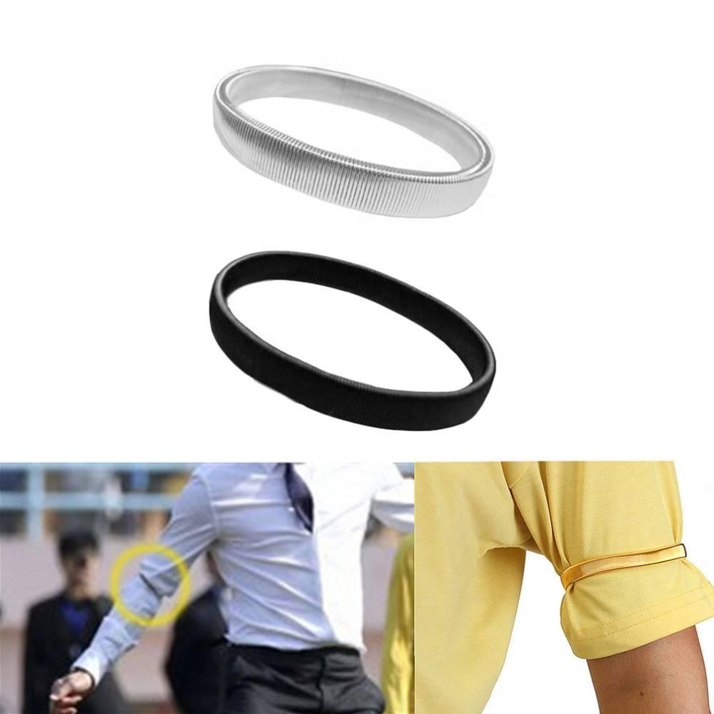 1 St Mannen Mouw Houder Casual Elastische Armband antislip Metalen Armband Stretch Kousenband Bruilo