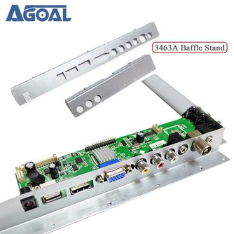 Voor 3463A LCD LED TV Driver Board Baffle Iron Metalen Zwart Plastic Baffle Stand Voor LCD Controller Board T. VST59.A8/T. VST59.A81