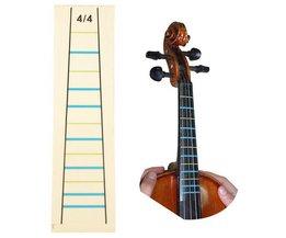 4/4 Viool Praktijk Fiddle Vinger Gids Sticker Violino Toets Fretboard Indicator Positie Marker