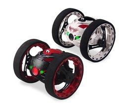 2.4G RC Bounce Auto met Springen LED Licht Muziek Automatische balanceren Rechtop walking Afstandsbediening Robot Auto Speelgoed Geschenken voor kids
