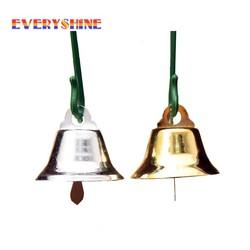 MyXL 24 stks/partij 20mm Gold/Sliver Metalen Trompet Bells voor Kerstboom Opknoping Ornamenten Hangers Decor Wind Chime Accessoires JK303