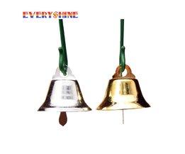 24 stks/partij 20mm Gold/Sliver Metalen Trompet Bells voor Kerstboom Opknoping Ornamenten Hangers Decor Wind Chime Accessoires JK303