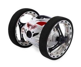Mini Cars Bounce Auto PEG SJ88 2.4 GHz RC Auto met Flexibele wielen Rotatie LED Licht Afstandsbediening Robot Auto Speelgoed voor Geschenken