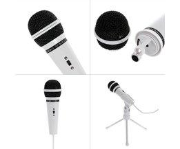 SF-910 Condensator Microfoon Professionele Vocale Studio Dynamische 3.5mm Jack Wired Mic Met Stand Voor Computer Desktop Karaoke PC
