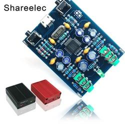 MyXL Shareelec PCM2706 HI USB Geluidskaart DIY Kit USB DAC SPDIF android compatibel MicroUSB windows zonder Driver Plug en Play