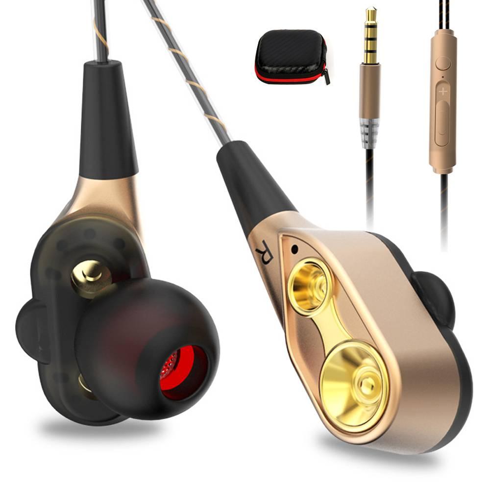 AIPAL V3 Bedrade oortelefoon Hoge bass dual drive stereo In Koptelefoon Met Microfoon Computer oordo