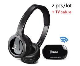 Bingle B616 FM Radio Hoofdtelefoon TV Headset Multifunctionele Stereo Draadloze met Microfoon FM Verhouding voor MP3 PC TV Telefoons