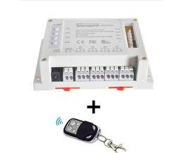 Sonoff 4CH PRO-4 Gang 433 MHZ Montage Draadloze Controle WIFI Smart Switch Home Licht Alexa Remote 10A/2200 W Amazon Alexa
