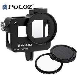 PULUZ PULUZ Behuizing Shell Hard Case Voor GoPro Accessoires Aluminium Metalen Beschermende Kooi Met UV Lens Voor HERO 5