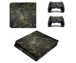 PS4 Skins 1 stuk in kleur Camouflage en 2 Controller Skins