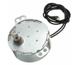 220-240 V 4 W Zwart Dual Draden 5-6 RPM/min 50/60Hz Synchrone Motor voor Micro Ambachten draaien tentoonstelling magnetron Kleine fans