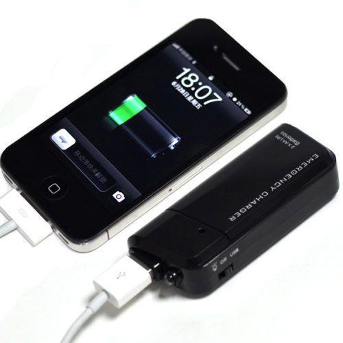 Dubbele AA Batterij Draagbare Emergency USB MOBIELE TELEFOON OPLADER-