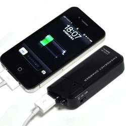 MyXL Dubbele AA Batterij Draagbare Emergency USB MOBIELE TELEFOON OPLADER-