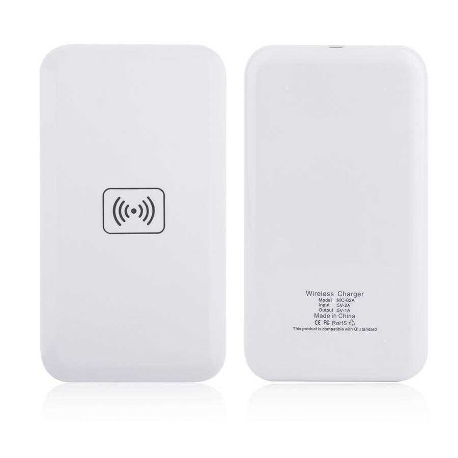 Wit Qi Standaard Draadloze Oplader Opladen Zender Pad Voor iPhone 6 6 s 6 plus 7 8 voor Samsung Gala