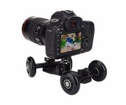 Tafelblad Mobiele Rolling Slider Dolly Auto Skater Video Track Rail Stabilizer voor Sport Action/Mirrorless Systeem/Dslr-camera