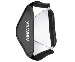 Neewer Inklapbare Softbox 24x24 inches/60x60 CM Snel Opvouwbare Diffuser voor Fotografie Speedlites Studio Flash Mono