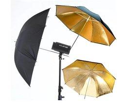 Cewaal Foto Video Speedlite Flash Verlichting Reflector 33 ''83 cm Reflecterende Paraplu Zwart Goud Flash Diffuser Draagbare