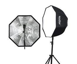 Godox 80 cm 31.5in Draagbare Octagon Softbox Paraplu Brolly Reflector voor Speedlight Flash Reflector voor Flash Speedlight