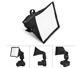 Fotografie Accessoires 15*17 cm Draagbare Multifunctionele Soft Box Kit Mini Softbox Voor Flitser Speedlight