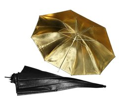 ASHANKS 33in 83 cm Reflector Paraplu Fotografie Accessaries Reflecterende Black Gold Golden Paraplu voor Photo Studio Flitslicht
