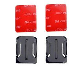 10 setsGebogen Oppervlak Base Voor Go pro Gebogen mount 3 m vhb adhesive sticky voor gopro hero 4 3 + 2 camera