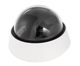 Plastic Cctv CCD Dome Vorm Camera Behuizing Cover Zwart + Wit
