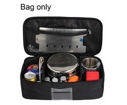 Outdoor picknick pakket kookgerei pakket gas tank anti-collision servies tas zelf rijden camping pakket