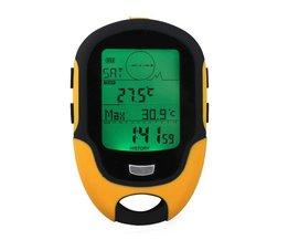 Draagbare Waterdichte Outdoor Camping Hoogtemeter FR500 Multifunctionele Running Zwemmen LCD Digitale Hoogtemeter Barometer Kompas Tool