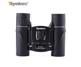 Teyeleec 8x21 Mini Dual Focus Compact Binoculars Telescope Pocket-size for Bird Watching Wildlife Scenery