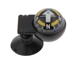 Pocket Bal Dashboard Dash Mount Navigatie Kompas Auto Boot Truck Zuig Zwart