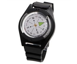 Tactische Pols Kompas Speciale Voor Militaire Outdoor Survival Horloge Zwart Band