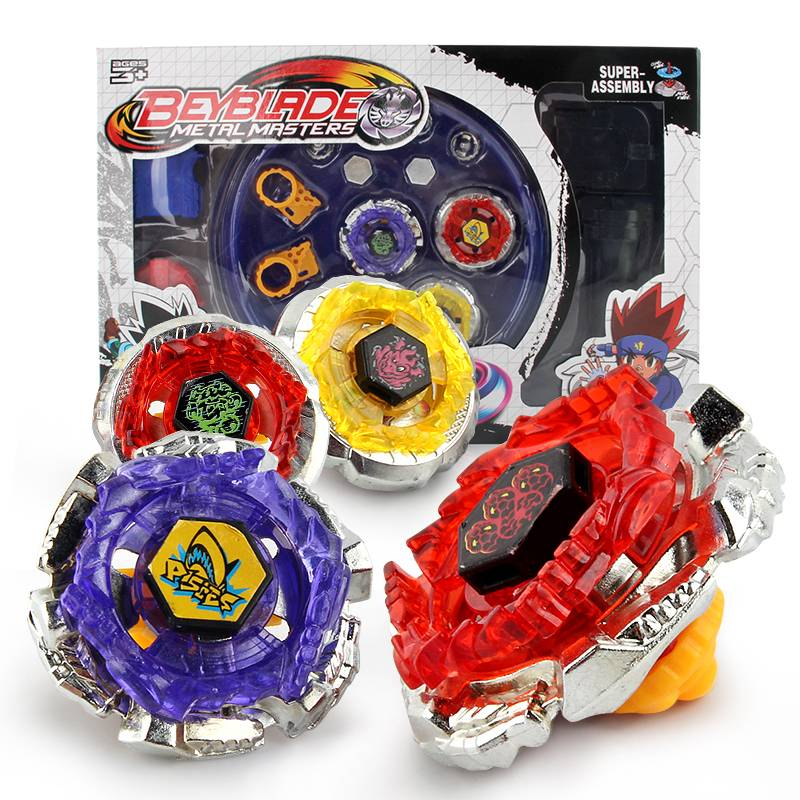 4 stks-set Tol Beyblade Met Launcher Arena Metal Strijd Battle Fusion Klassieke Speelgoed AA26 Met O