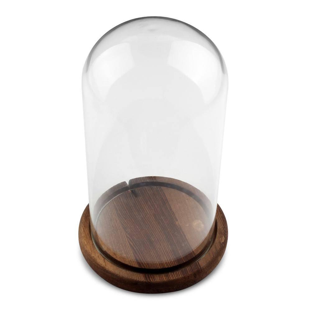 Clear Glas Display Dome met Houten Basis Bruiloft Decoratie Vazen Koepels Moeder Dag Geschenken Vale