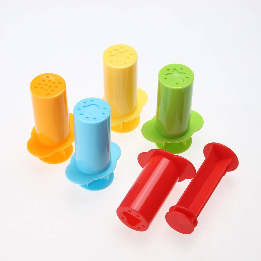 5 stks-set Mold Gereedschap Polymeer Klei Set Plasticine Speelgoed Kinderen DIY Hart Stars Noedels E
