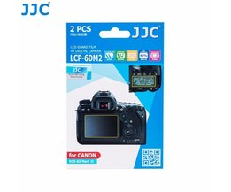 JJC LCP-6DM2 LCD Guard Film Screen Protector (2 Kits) for Canon EOS 6D Mark II