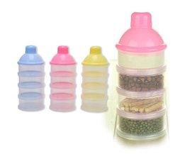 1 ST 4 Lagen Babyvoeding Melkpoeder Voedsel Opbergdoos Fles Container Kleur Willekeurige levering