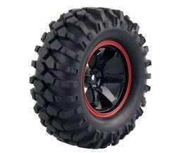 4 STKS 1/10 1.9 Inch Off Road Klim Rock Crawler Autobanden Super Zachte 96 MM Rubber Tyre Velg Hex 12 MM Voor Tamiya CC01 D90 701A