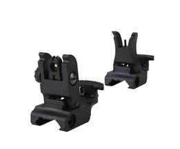 Overgang Backup Iron Sight Rapid Rifle RTS Sight RL27-0001 Plastic Front Rear Sight 45 Graden Offset Rapid AR15 AR 15 AR-15