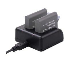 Dual Acculader Action Camera Batterij Oplader met Usb-kabel voor Garmin VIRB Ultra 30 Camera